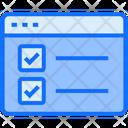 Task Checklist Web Icon
