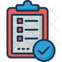 Task Complete Checkmark Verified Document Icon