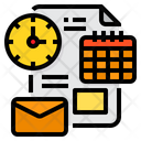 Paper Time Clock Icon