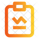 Task Report Analytic Clipboard Icon