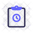 Task Clock Clipboard Icon