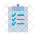 Tasks Checklist Survey Icon