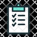 Tasks Checklist Survey Icon