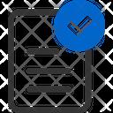 Tasks Checklist Document Icon