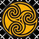 Round Label Celtic Icon