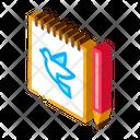 Notebook Pen Bird Icon