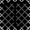 Tau Greek Alphabet Icon