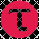 Tau Alphabet Greek Icon