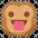 Taunt Tongue Monkey Icon
