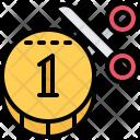 Tax Scissors Coin Icon