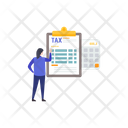 Tax Accounting Tax Arithmetic Accounting Icon