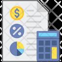 Tax Accounting Tax Return Tax Calculation Icon