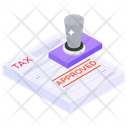 Business Statement Accounting Tax Approved Icon