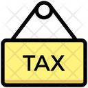 Tax Board Tax Hanging Board Icon