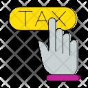 Button Tax Hand Icon