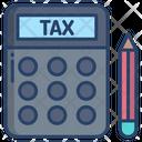 Tax Calculating Tax Money Icon