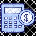 Debt Loan Tax Icon