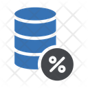 Tax Discount Discount Database Icon