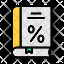 Tax Discount Book Icon