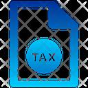 Tax File Tax Form Tax Icon