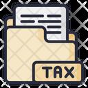 Tax Folder Financial Folder Tax Document Icon
