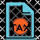 Tax Form Plan Presentation Icon