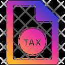 Tax Form Business Businessman Icon