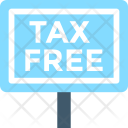 Tax Free Taxation Icon