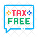 Tax Free Message Icon