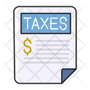 Taxes Bill Invoice Icon