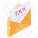 Tax Mail Banking Communication Tax Letter Icon