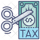 Tax Money Cut Icon