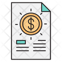 Invoice Tax Bill Icon
