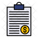 Tax Paper Tax Document Finance Report Icon