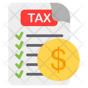 Tax Payment Tax Tax Document Icon