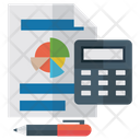Bank Statement Bank Report Report Analysis Icon