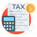 Tax Report Budget Accounting Tax Document Icon