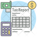 Tax Report Calculation Accounting Icon