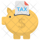 Tax Saving Tax Payment Piggy Bank Icon