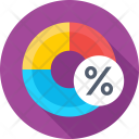 Taxation Percentage Pie Icon
