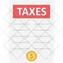 Taxes Business Taxes Tax Document Icon