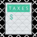 Taxes Document Sheet Icon