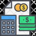 Calculator Document Dollar Icon