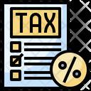 Taxes Accounting Bill Icon