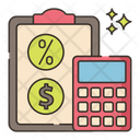 Taxes And Tips Icon