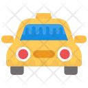 Car Yellow Taxi Icon