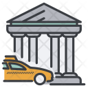 Bank Building City Icon