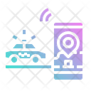 Taxi Pickup Car Icon