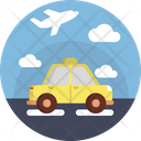Airport Taxi Cab Icon