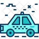 Travel Blue Taxi Icon